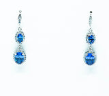 Oval Cut Tanzanite Drop Earrings