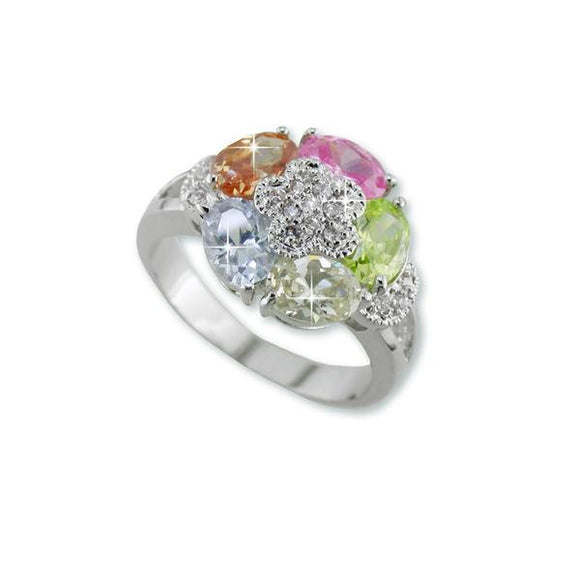 Multicolor Pastel Oval Ring