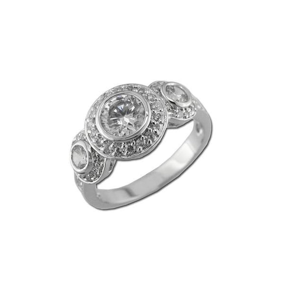 Timeless Pavé Bezel Set Rounds Ring