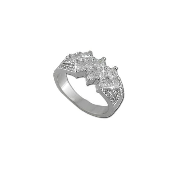 Princess Cut 10 Stone Ring