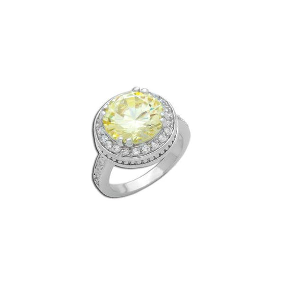 6.5ct Canary Round Ring