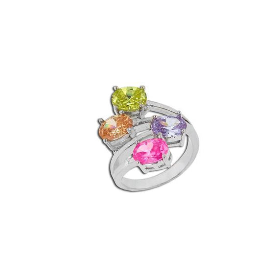 4 Light Multicolor Oval Ring
