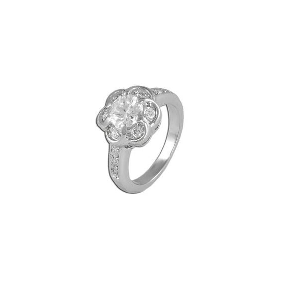 Clear Flower Ring
