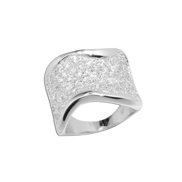 Extra Wide Pavé Band Ring