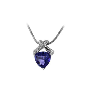 Tanzanite Trillion Necklace