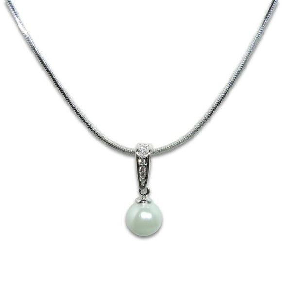 Classic Pearl Pendant Necklace
