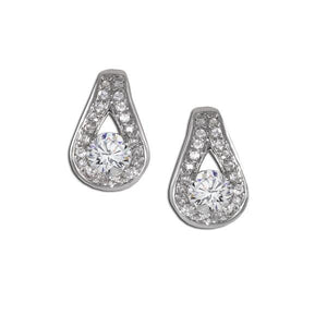 Pavé Design Earrings