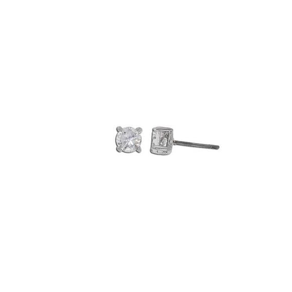 1/2ct Sterling Silver Round Studs