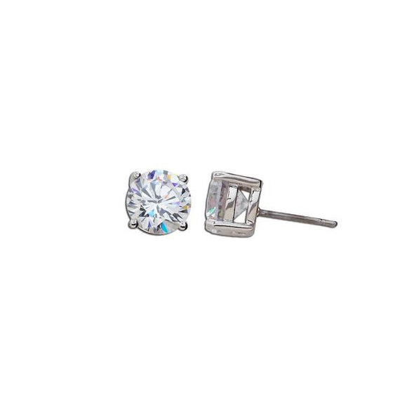 4ct Round Cut Stud Earrings