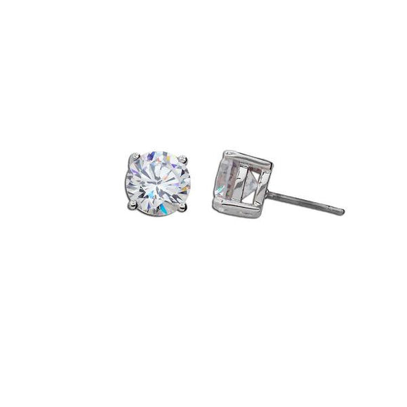 6ct Round Stud Earrings
