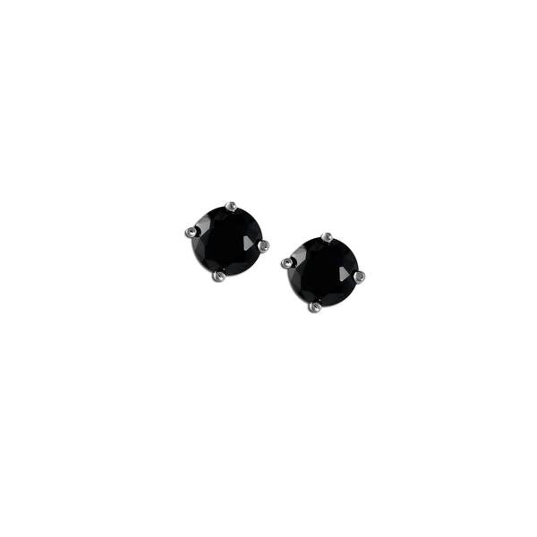 2ct Jet Stud Earrings