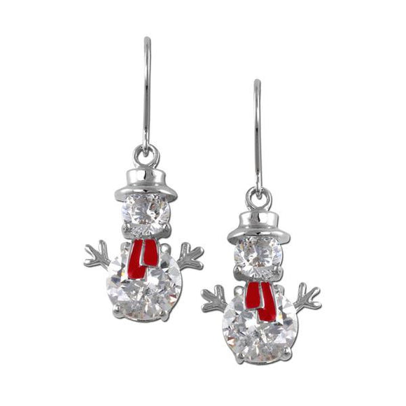 Snowman Fish Hook Earrings