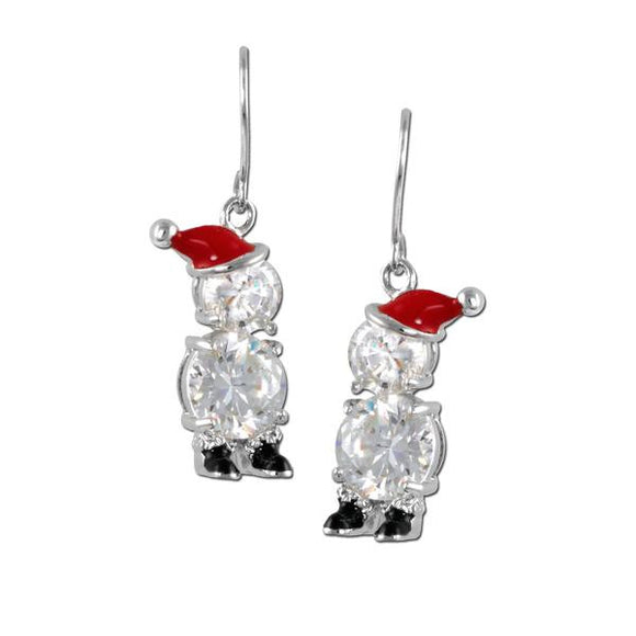 Santa Snowman Earrings