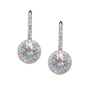 2ct Round Drop Earrings