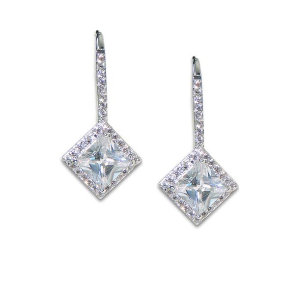 Princess Cut Earrings