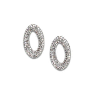 Oval Pavé Earrings