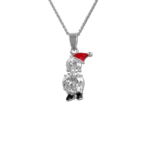 Santa Snowman Necklace