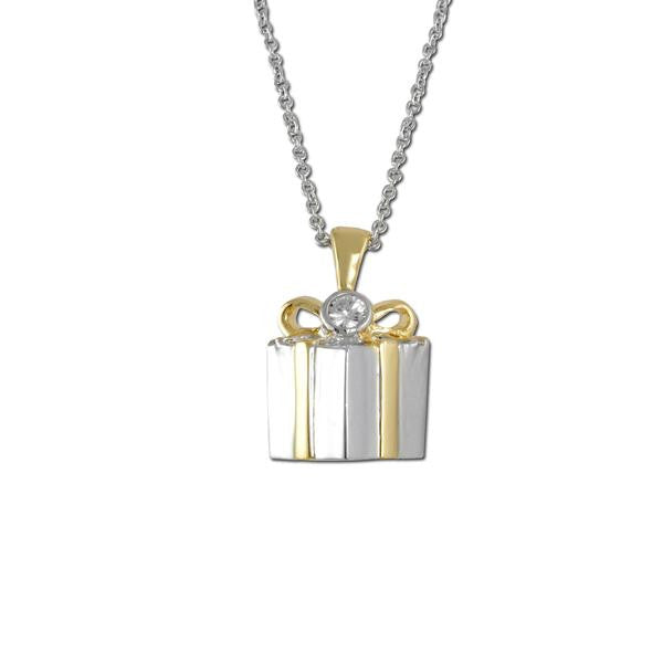 2 Tone Gift Box Necklace