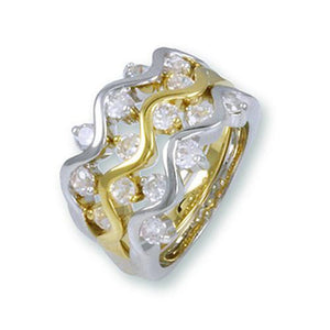 Gold and Rhodium Ring Set