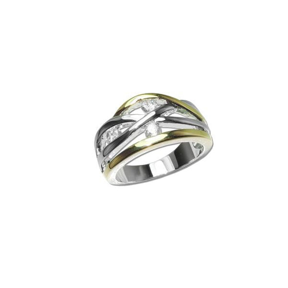 2 Tone Weave Ring