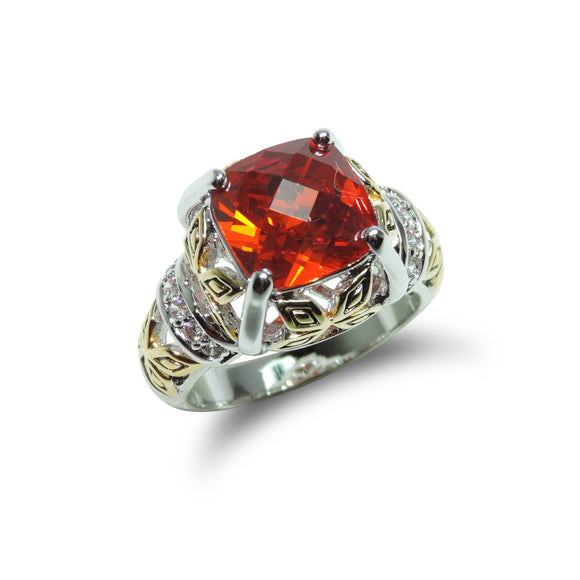 Antique Two-Tone Garnet Ring