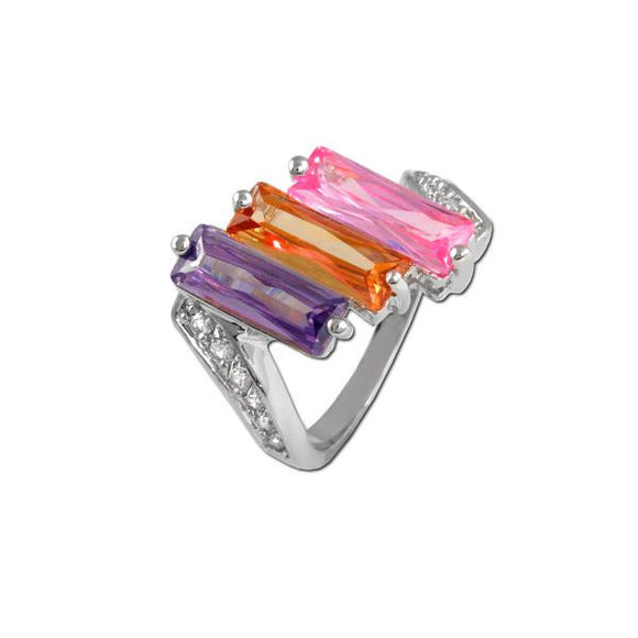 Multicolored Baguette Ring