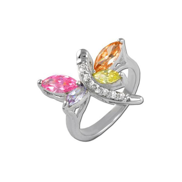 Multicolored Dragonfly Ring