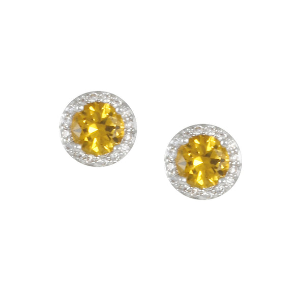 NOVEMBER Birthstone Stud Earrings