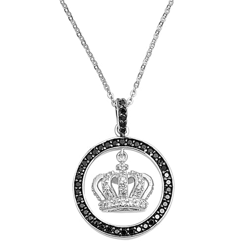 Suspended Royal Crown Pendant Necklace