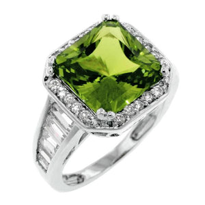 Cushion Cut Peridot Ring