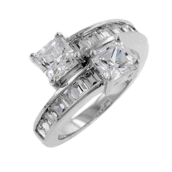Image result for DUAL SQUARE CUT BYPASS RING