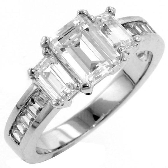 1ct Emerald Cut Ring