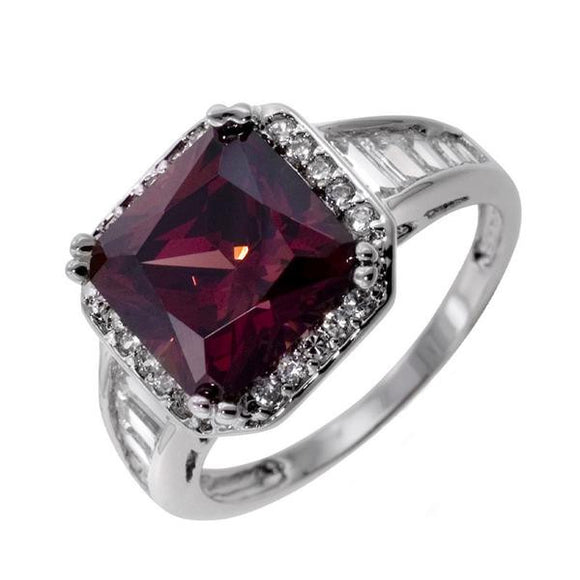Cushion Cut Pink Tourmaline Ring