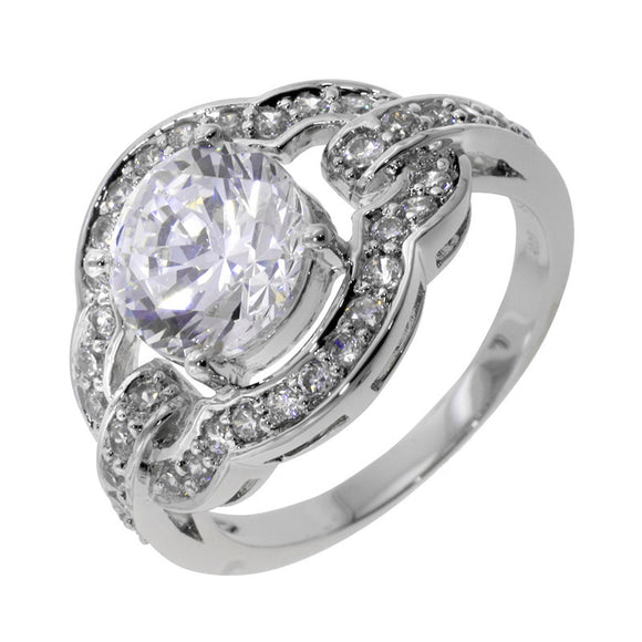 2.5ct Solitaire In Pavé Mount Ring