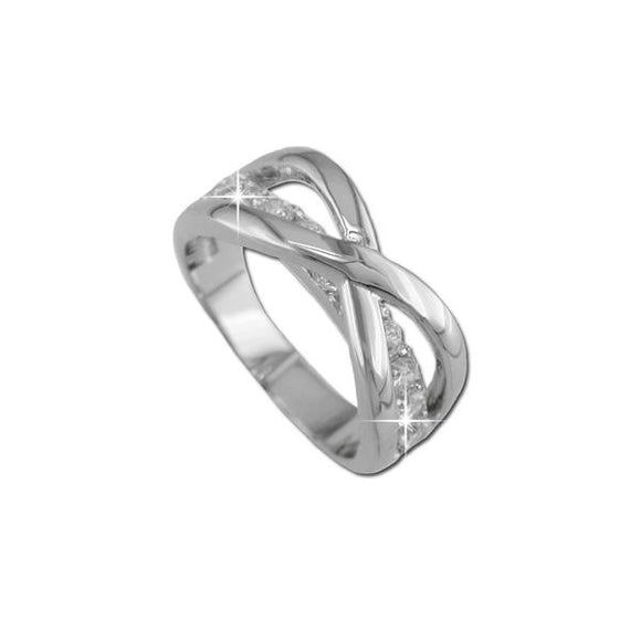 Domed Crossover Band Ring
