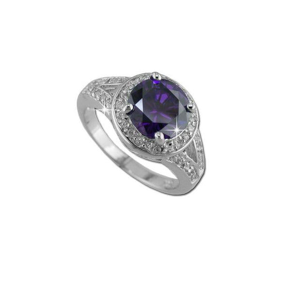 2.5ct Amethyst Round Ring