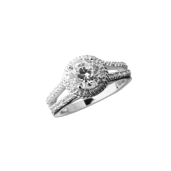 1.25ct Round on Split Shank Band Ring