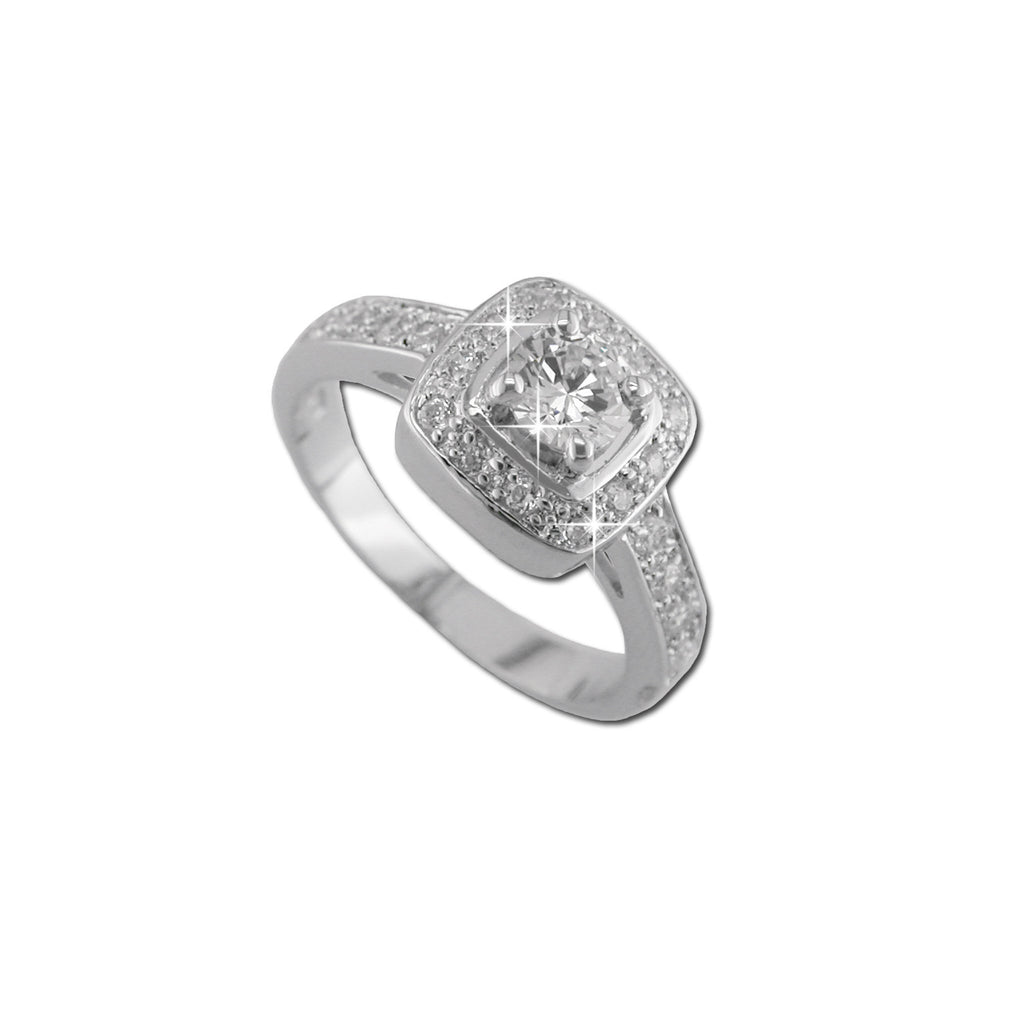 .5ct Round In Pavé Mount Ring