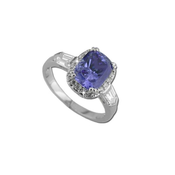 Oval Cut Tanzanite Ring