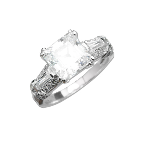 Ascher Cut Solitaire Ring