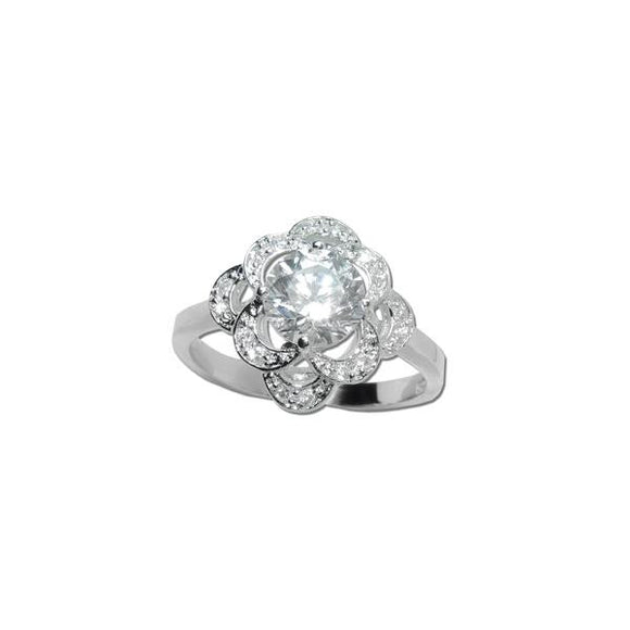1.25ct Round W/ Pavé Accents Ring