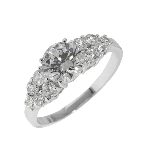 1.25ct Round In A Bouquet of Rounds Ring