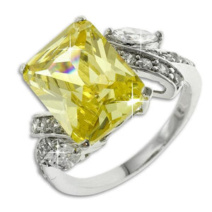 Canary With CZ Accents Ring