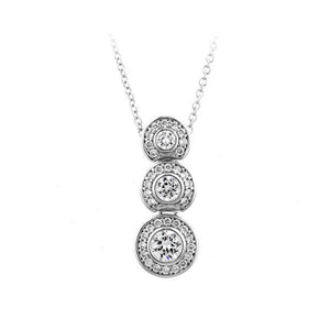 Graduated Bezel Set Rounds Necklace