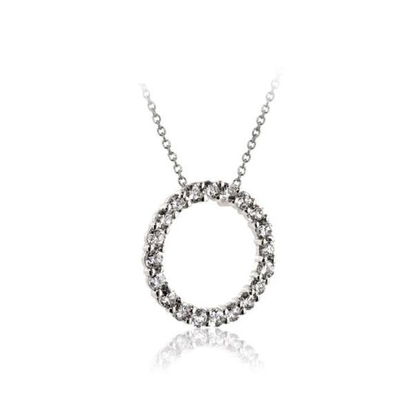 White Circle Of Love Necklace