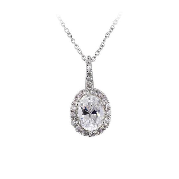 Oval Cut Pavé Setting Necklace