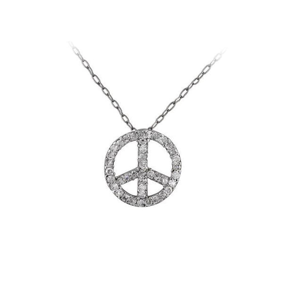 Large Peace Sign Pendant