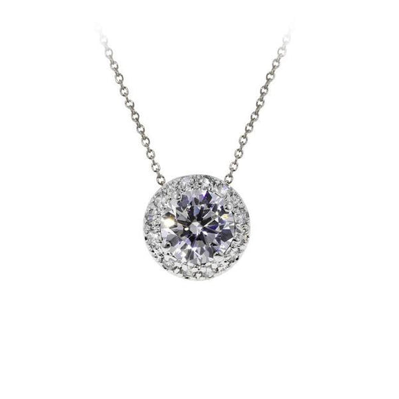 2.5ct Round Pavé Setting Necklace