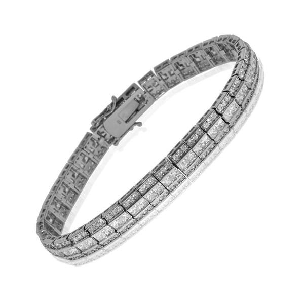 Triple Row Tennis Bracelet
