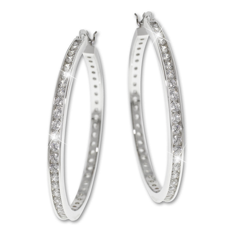 Hoop-Earrings With CZ Accents